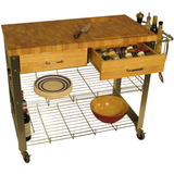 Chris & Chris Stadium Kitchen Island with Wood Top -  - 6
