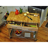 Chris & Chris Stadium Kitchen Island with Wood Top -  - 8