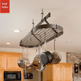 Enclume Oval Ceiling Pot Rack with Grid - Free Hooks -  - 1
