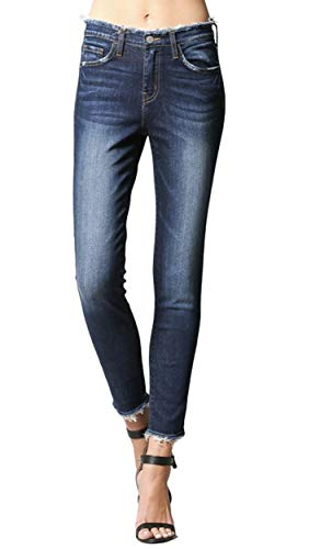 Flying Monkey Love Spell Distressed Waist Raw Hem High Rise Skinny Jeans Y2662