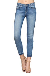 Flying Monkey Pike Released Hem Mid-Rise Medium Wash Ankle Skinny Jeans