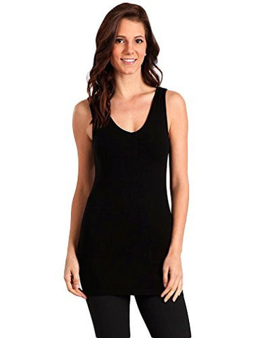 M-Rena Reversible V-neck / Scoop Neck Camisole Tank Top
