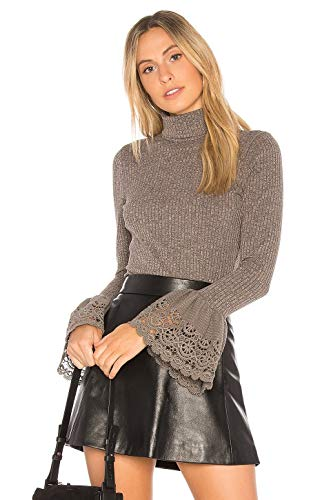 VAVA by Joy Han Women's Valerie Turtle Neck TOP (Grey)-VT1842
