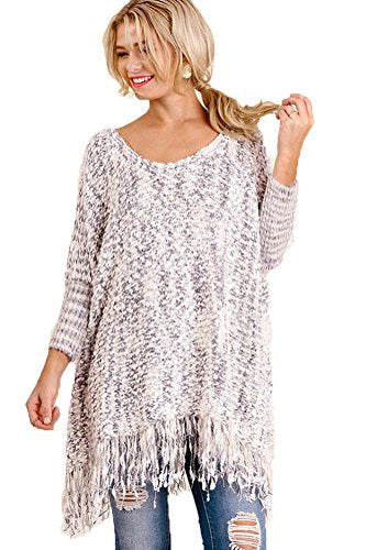 Umgee Women's Fuzzy Oversize Pull Over Sweater