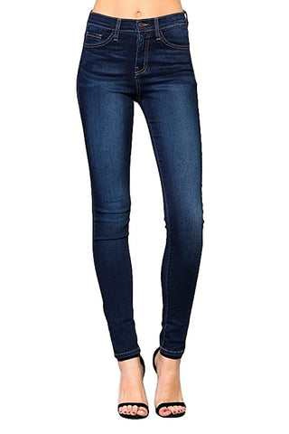 Flying Monkey Blue Babe High Rise Dark Wash Super Soft Skinny Jeans Y1007