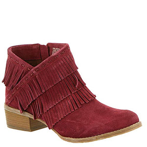 Naughty Monkey Women's Fashion Fringe Ankle Bootie with Side Zip