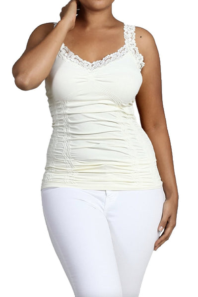 M. Rena Women's Lace Camisole-One Size Fits Most Plus Size