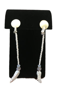 Saachi White Pearl Earrings