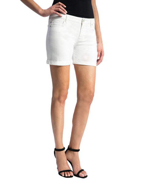 Liverpool Jeans Company Women's Vickie Short Rolled-Cuff In Stretch Peached Twill
