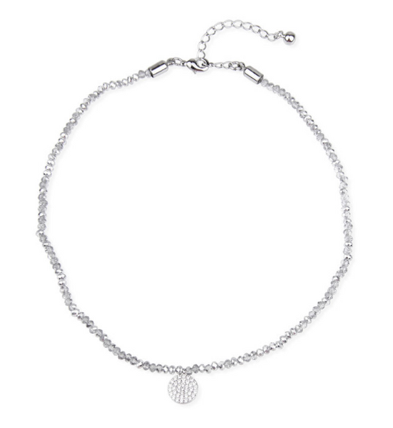 Saachi Clear Crystal Beads Choker