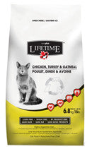 LIFETIME Chicken, Turkey & Oatmeal Cat Food