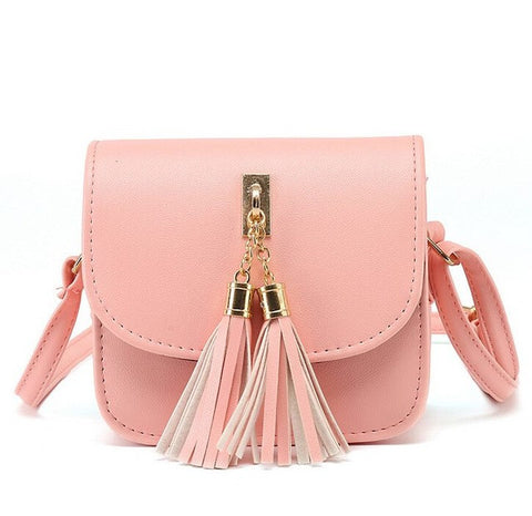 Candy Color Tassel Messenger Handbag