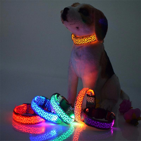 LED Leopard Skin Pet Collar