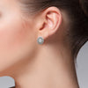 18kt Gold and Sterling Silver Earrings with Diamonds