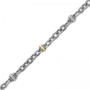 14kt Gold and Sterling Silver Bracelet