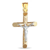 14K Two -toned Cross Pendant