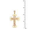 14Kt Two Tone Gold Cross
