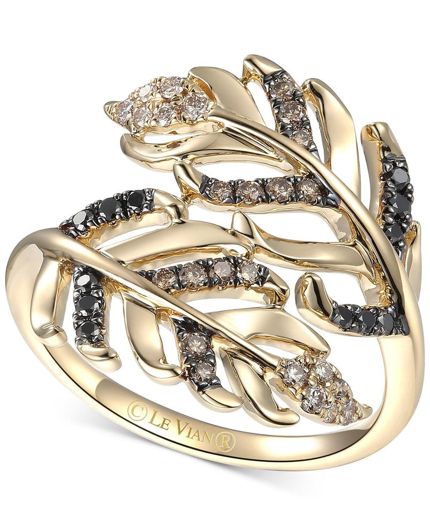 Le Vian Heavenly Feathers® Diamond Bypass Ring (1/3 ct. t.w.) in 14k Gold