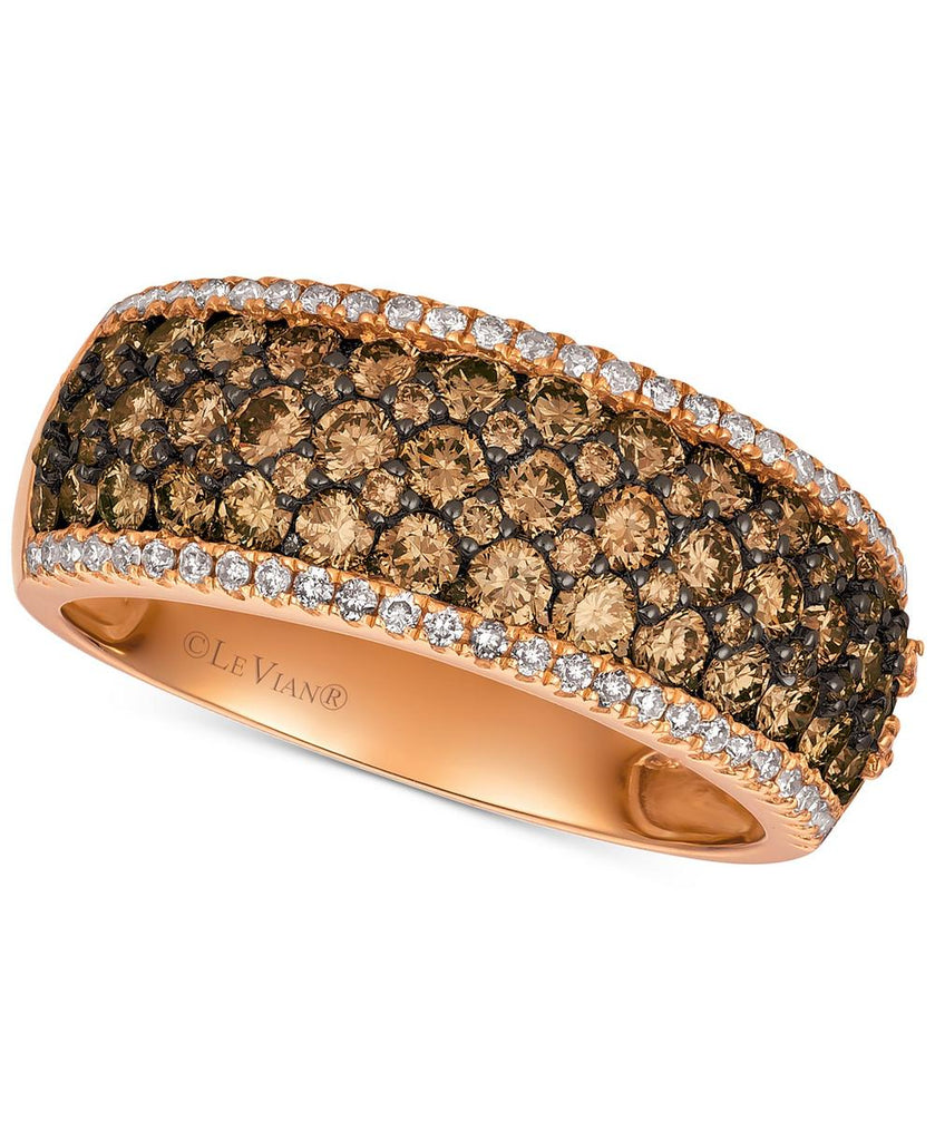 Le Vian Chocolatier® Diamond Wide Band (1-1/2 ct. t.w.) in 14k Rose Gold