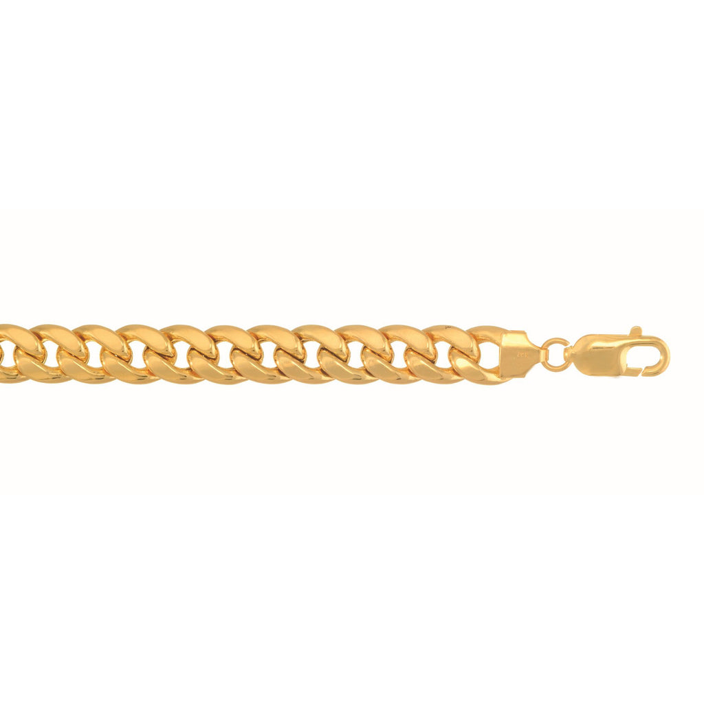 10k Yellow Gold 7.8mm 8.5 inches Lite Miami Cuban Link Bracelet