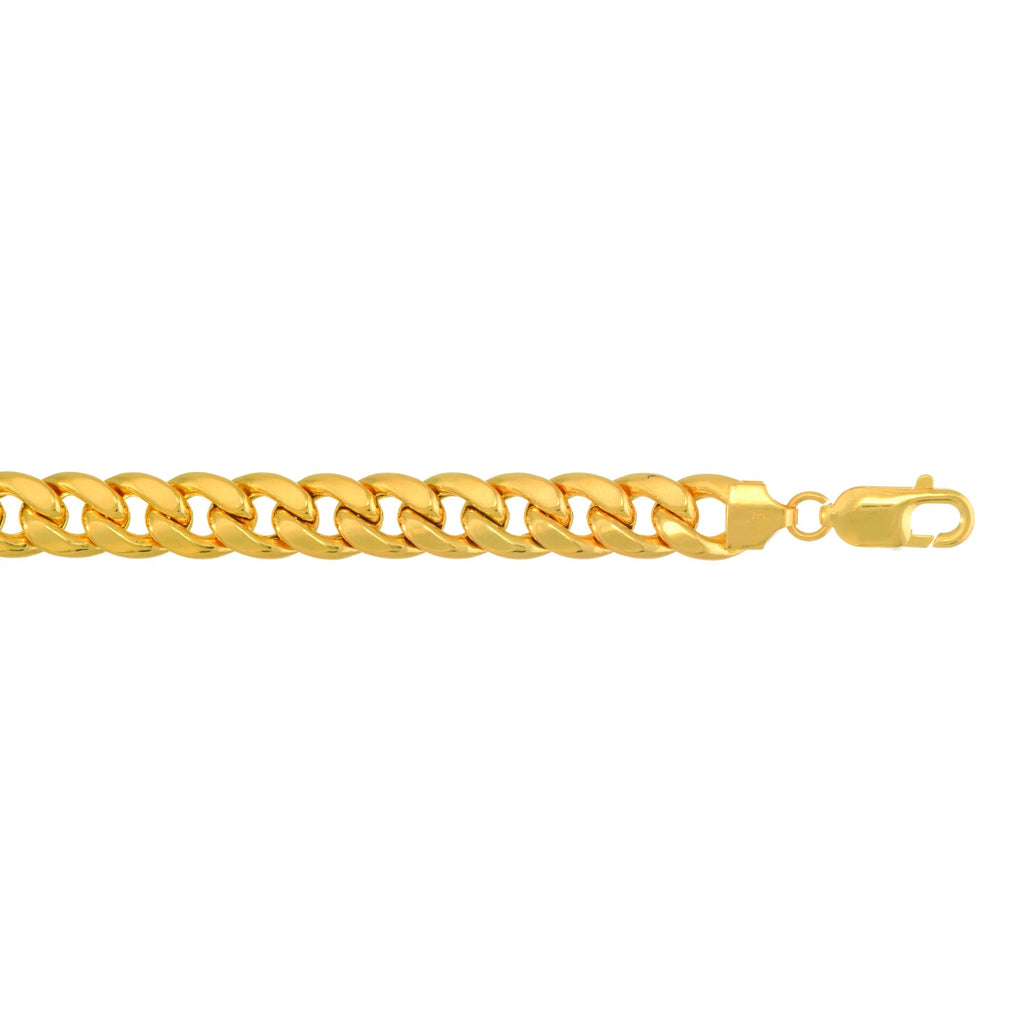 10k 9 inches Yellow Gold 9.2mm Lite Miami Cuban Link Bracelet Lobster Clasp