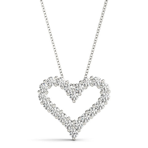 14kt Gold Diamond Heart Necklace - Dia.50ct