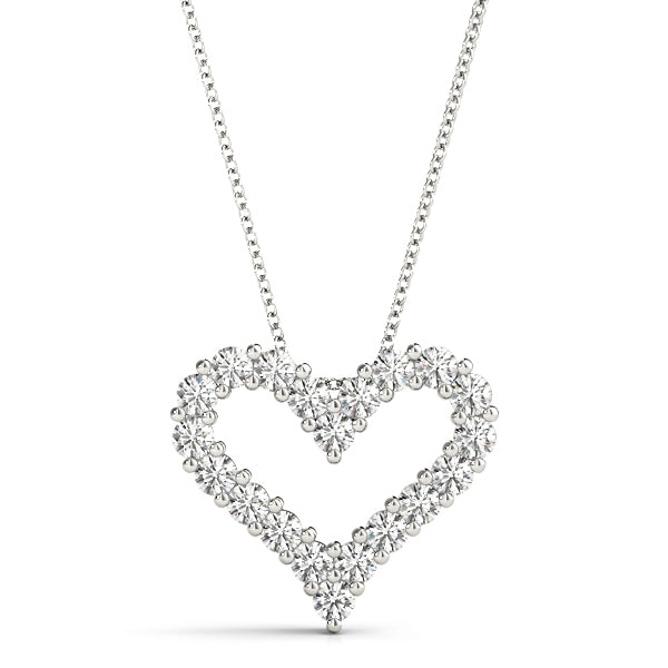 14kt Gold Diamond Heart Necklace - Dia.1ct