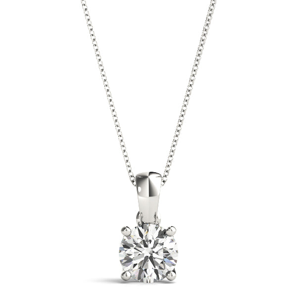 14kt Gold Diamond Solitaire Nekclace - Dia.25