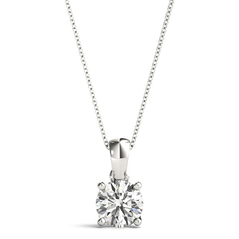 14kt Gold Diamond Solitaire Necklace - Dia.35ct