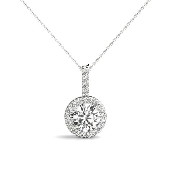 14kt Gold Diamond 'Halo' Necklace - Dia..65ct.