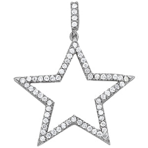 14kt Gold Diamond Star Necklace - Dia.50ct