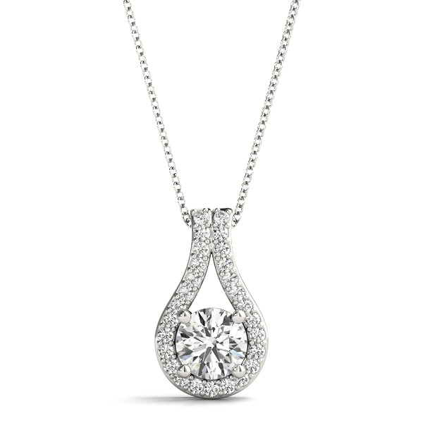 14kt Godl Diamond Solitaire Necklace - Dia.40ct