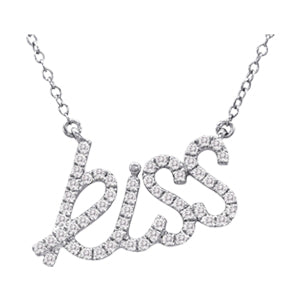 14kt White Gold 'Kiss' Necklace with Diamonds - Dia.30ct