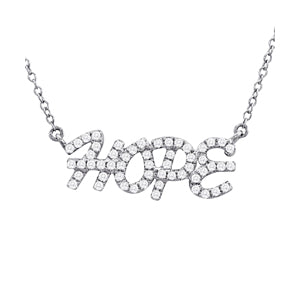 14kt White Gold 'Hope' Necklace with Diamonds - Dia.30ct