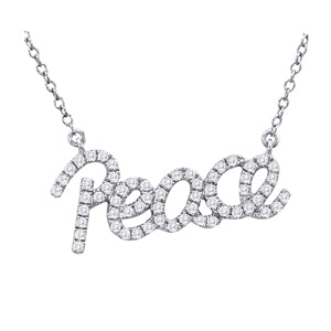 14kt White Gold 'Peace' Necklace with Diamonds - Dia.35ct