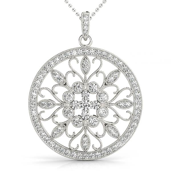 14kt Gold Medallion Diamond Necklace - Dia.75ct