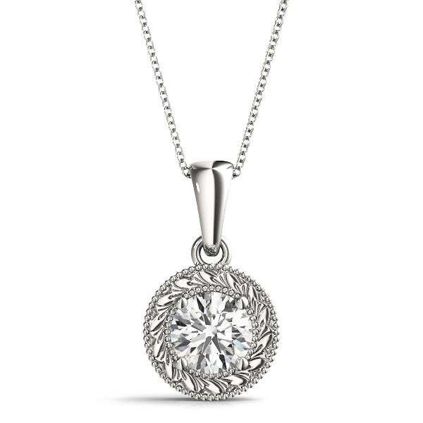 14kt Gold Diamond Solitaire Necklace - Dia.25ct