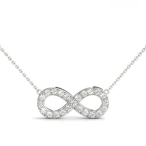 14kt Gold Infinity Necklace - Dia.32ct