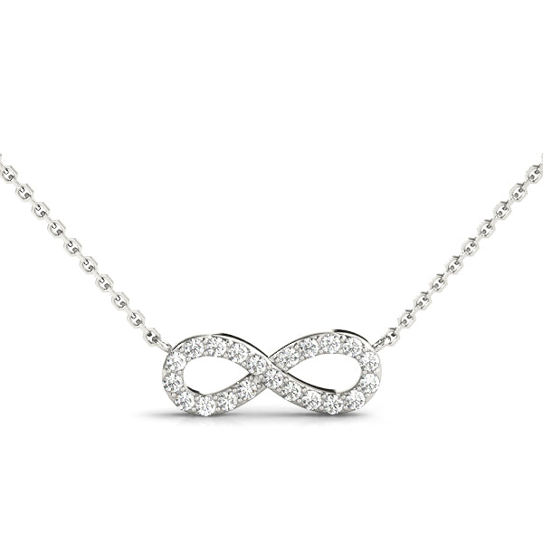 14kt Gold Infinity Diamond Necklace - D.12ct