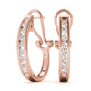 14kt Gold Diamond Earrings - D.35ct