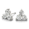 14kt Gold Three Stone Diamond Earrnigs - D.50ct