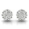14kt Gold Diamond Cluster Earrings - 1ct
