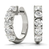 14kt Gold Diamond Earrings 'Huggies' - D.50ct