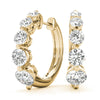 14kt Gold 'Journey' Diamond Earrings - D.50ct
