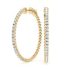 14kt Gold Diamond Hoop Earrings - 19mm - .30ct.