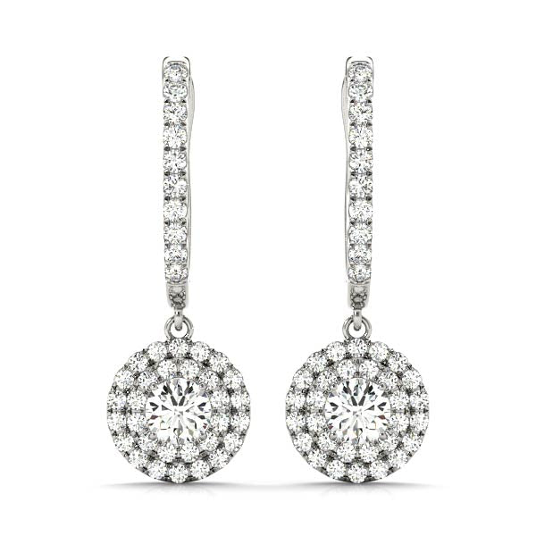 14kt Gold Hanging Diamond Earrings - Dia.1ct