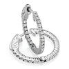 14kt Gold Diamond Hoop Earrings - 1ct - 25mm