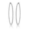 14kt Gold Diamond Hoop Earrings - 1.50ct - 50mm