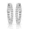14kt Gold Diamond Hoop Earrings - 1ct - 20mm