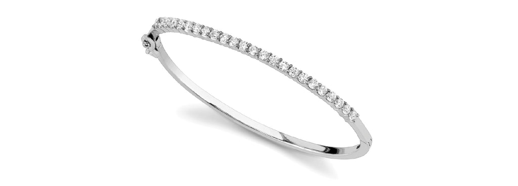 14kt Gold Diamond Bangle Bracelet - Dia 1ct.